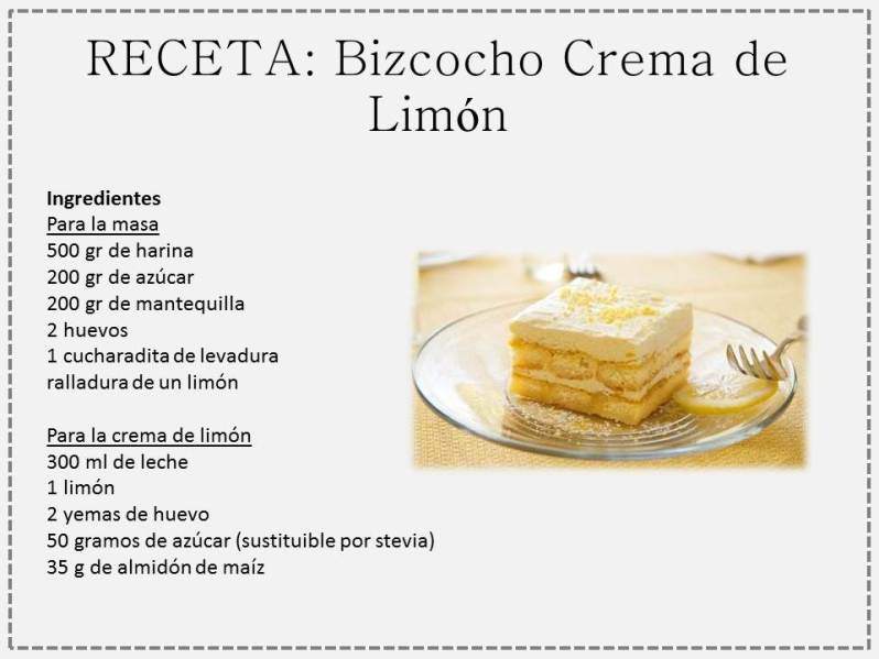 bizcocho crema limon