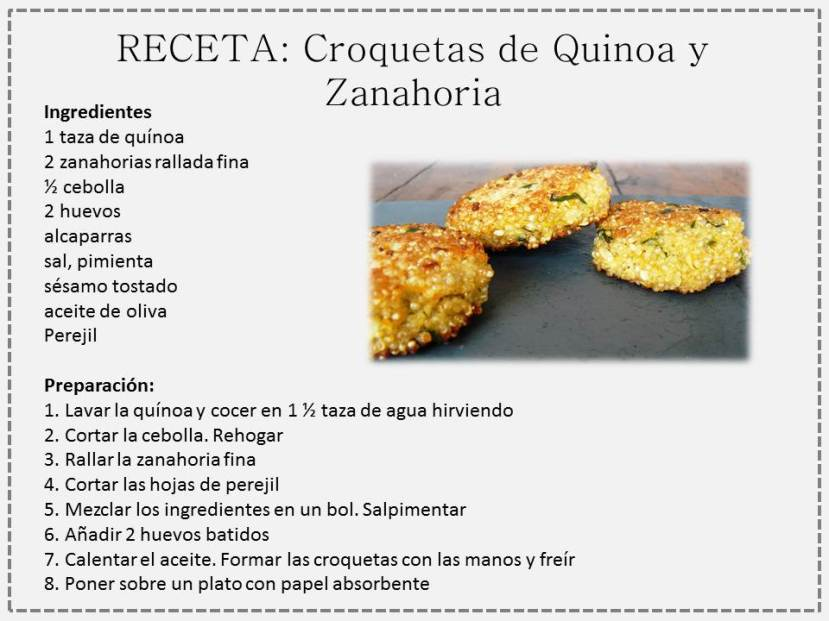 croqueta quinoa y zanahoria