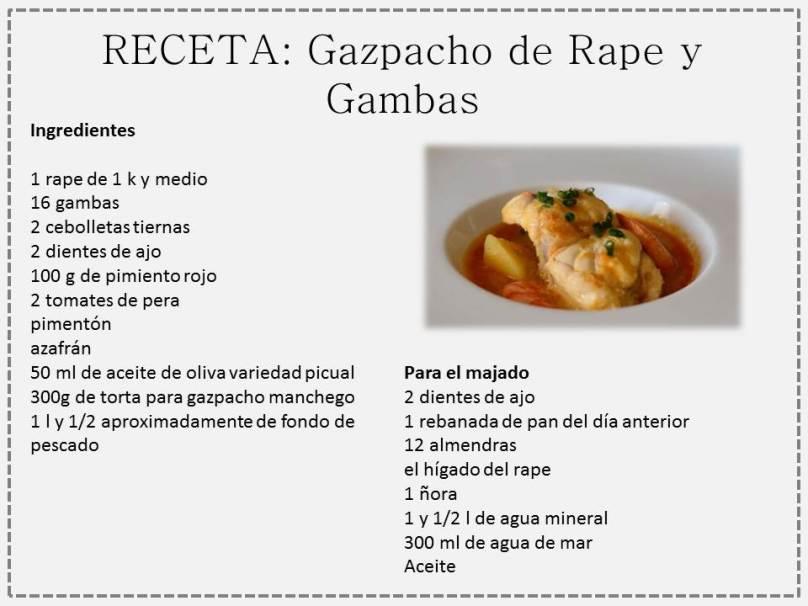 gazpacho rape y gambas