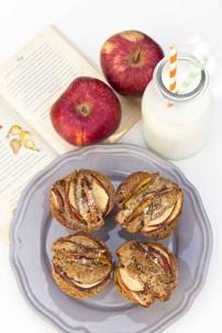 Muffins de Manzana y grano de Saraceno
