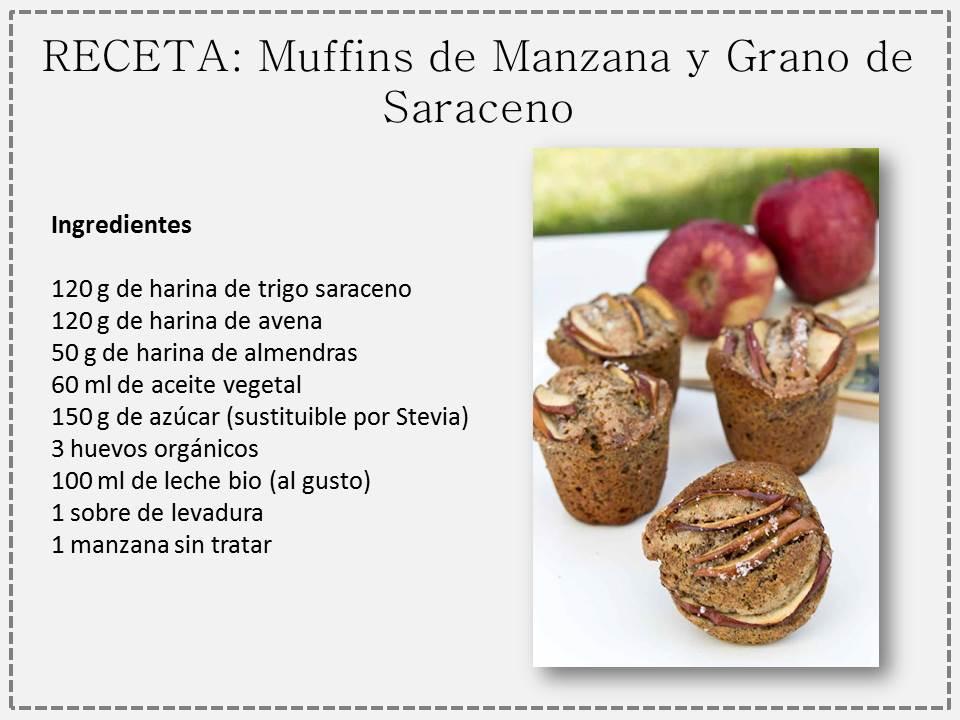 Muffins de Manzana y Grano Saraceno: Receta BIO | Spanish