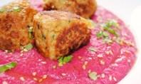 hummus remolacha y soja