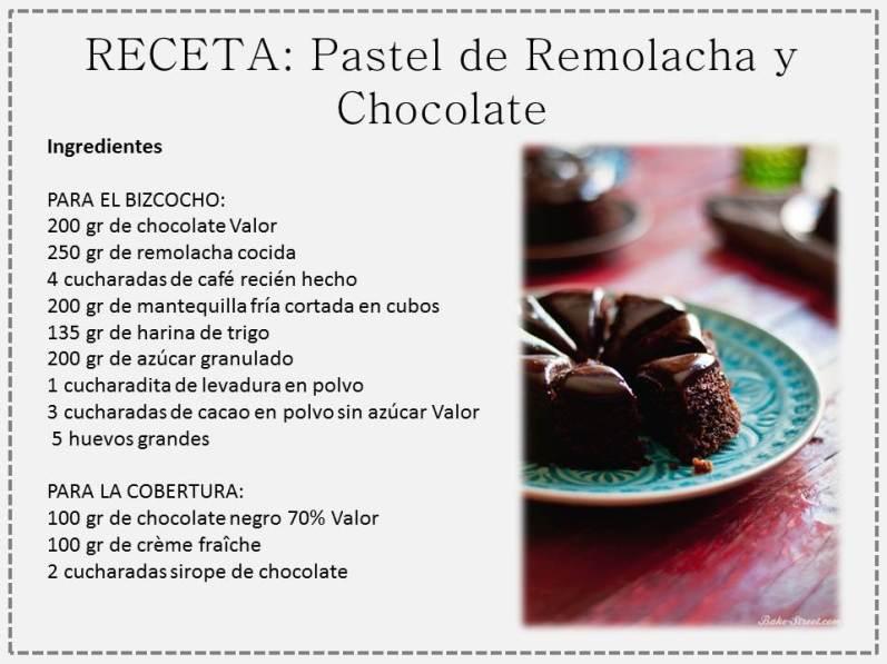 pastel remolacha y choco