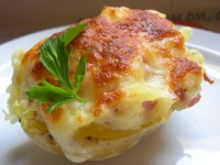 patata rellena queso y bacon