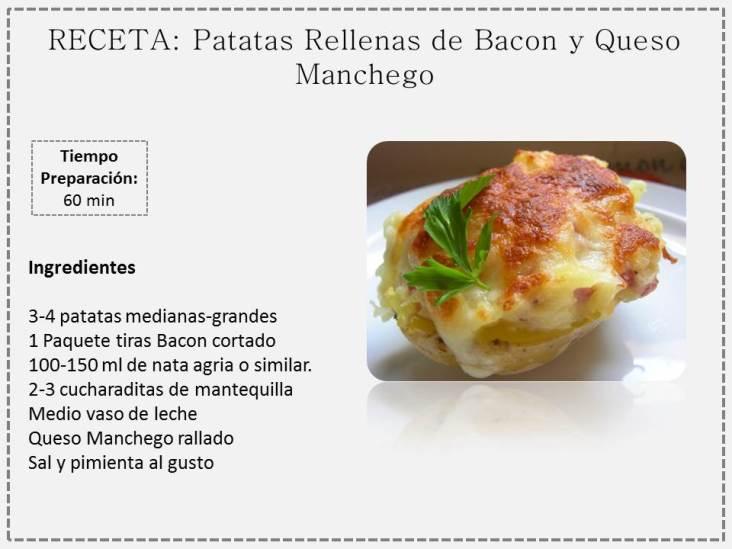 patatas rellenas bacon y queso