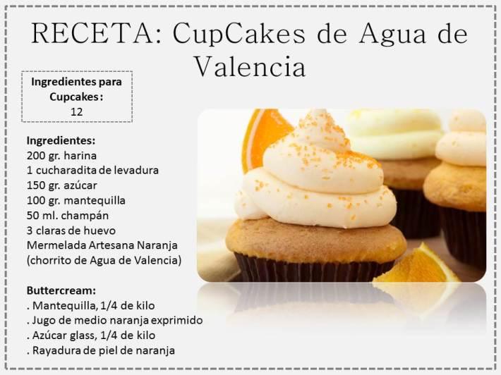 cupcake agua de Valencia