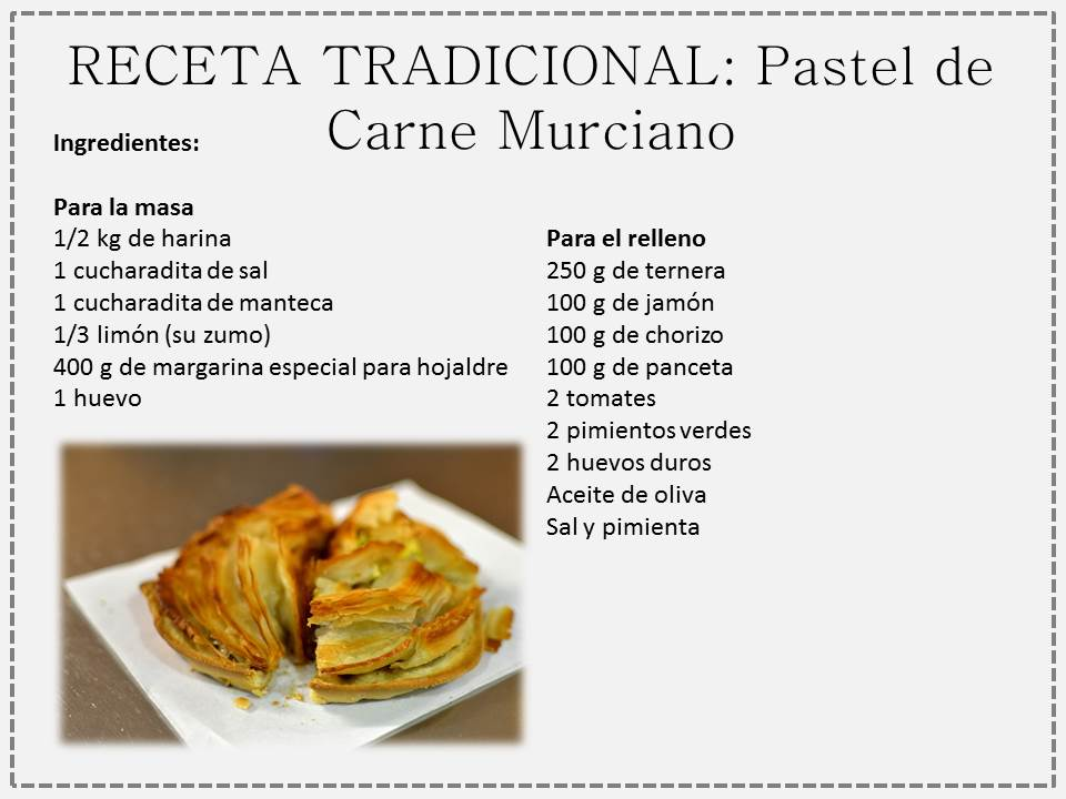 Pastel de carne murciano spanish foods for Ingredientes para comida